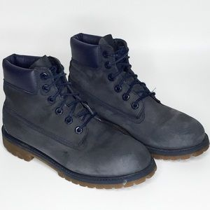 TIMBERLAND Navy Blue Nubuck Leather Boots 6